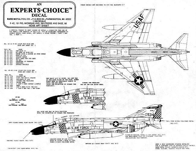Expert's Choice 48-32 & 48-40 for 171 FIS F-4C Phantom II