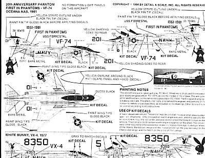 Detail & Scale 0648 for 1/48 F-4J/S Phantom II