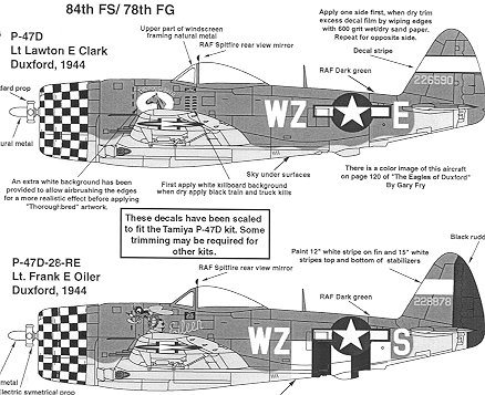 Superscale 48-878: 84 FS/78 FG P-47D Thunderbolts