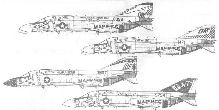 Microscale 72-155 for USMC F-4 Phantom II
