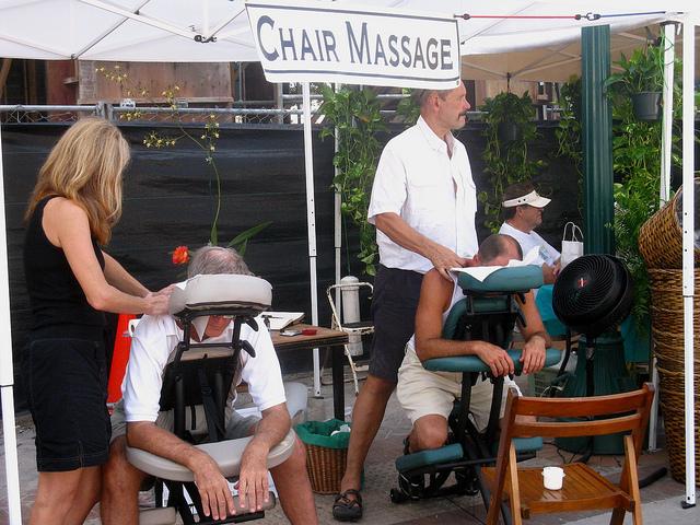 Booth Massage Therapist  Las Vegas Models  Trade Show