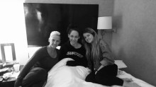 Snuggles w. Stacy and Alex