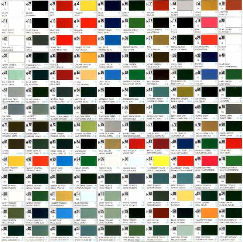 Mr Color Paint Chart Conversion Coloringsite