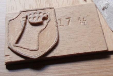 Logo 17 ss grabado en panel