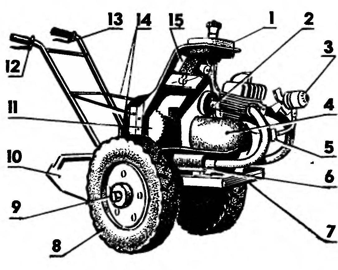 The Motorcycle Becomes A Two Wheel Tractor