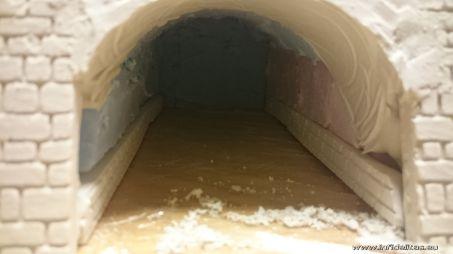 Die Mauern im Tunnel