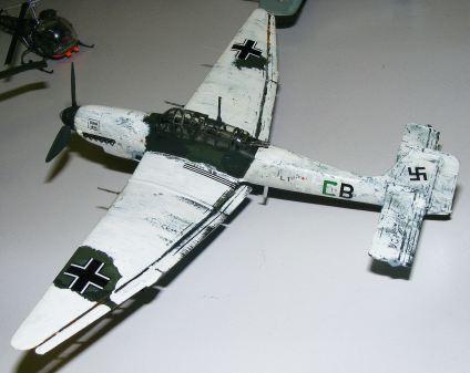 Rod's Stuka in Winter camouflage