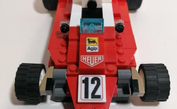 Ferrari 312 T 1976 LEGO, modellino scala 1:18