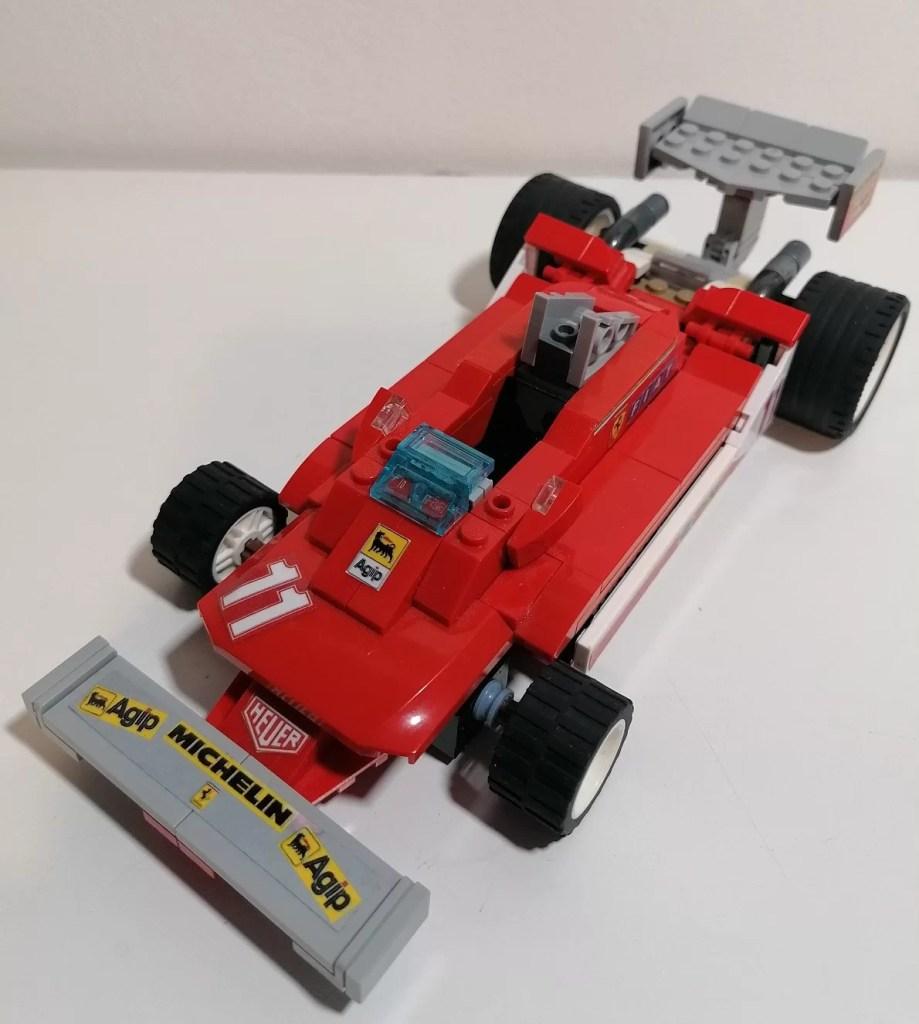 modellino Ferrari 312 T4 LEGO 1979 tre quarti