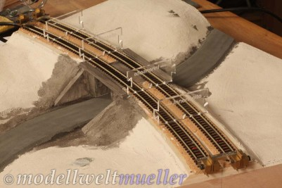 Bei Modulen ist die genaue Lage der Gleise an den Schnittstellen wichtig.