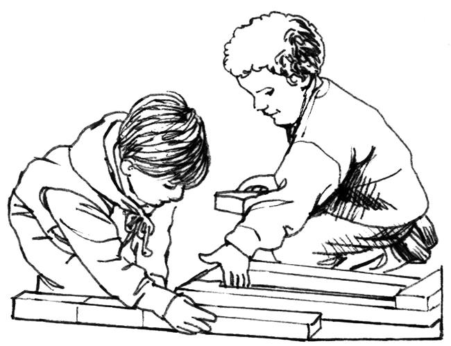 Coloring Page: Teamwork