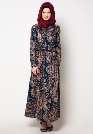 Baju Gamis Batik dengan Motif yang Elegan