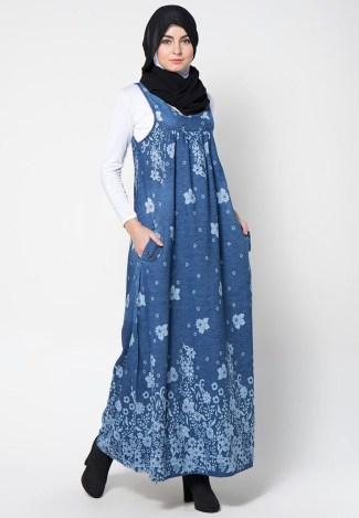 Gamis Motif Bunga untuk Ide Baju Lebaranmu
