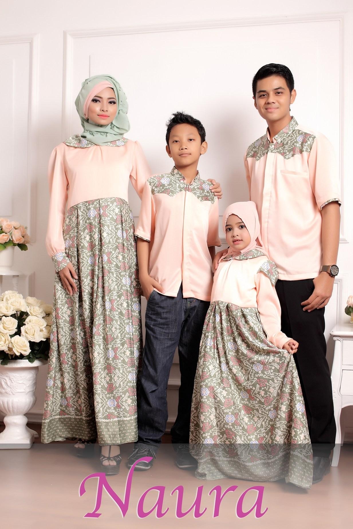Model Baju Batik Seragam Keluarga Buat Lebaran Nusagates