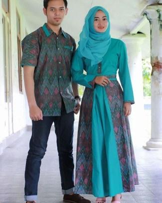 Baju Batik Couple dengan Kombinasi Satin Terbaru Saat Ini
