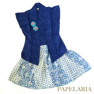 Gaun Batik Tanpa Lengan untuk Puteri Kesayangan