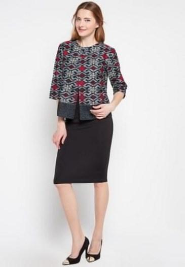 21 Model Baju Batik Guru Wanita Pria Seragam Modern Untuk Kerja