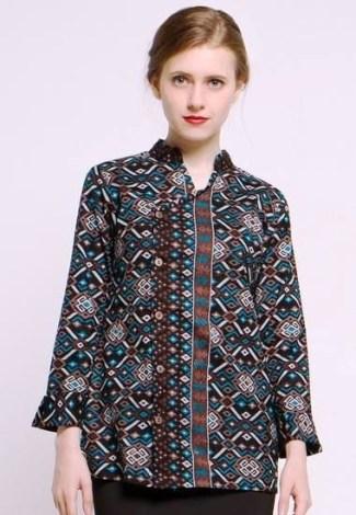 Model Baju Batik Atasan untuk Wanita Cocok untuk Bekerja Kantoran