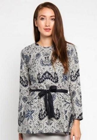 43 Model Baju Batik Wanita Terbaru 2018 Atasan Lengan Panjang Dll 25e02d894c