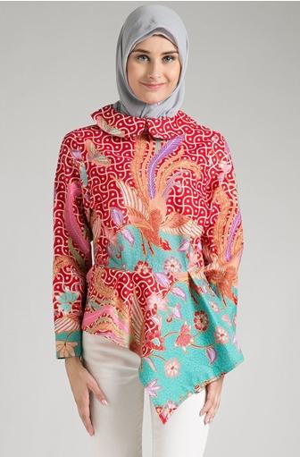 Model Baju Batik Muslimah Kombinasi Agar Semakin Cantik