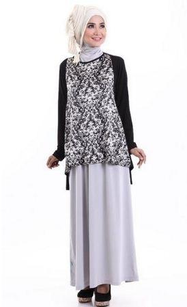 Model Baju Batik Muslimah Kombinasi Terbaik Saat Ini