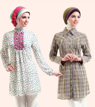 Model Baju Batik Muslimah untuk Pesta Bergaya Casual