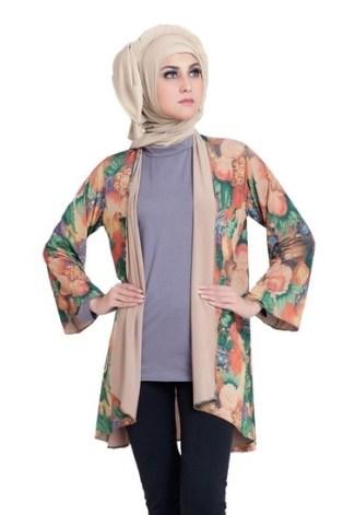 31 Model Baju Batik Muslim Terbaru 2017 Modern Stylish dan Elegan