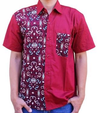 Model Baju Batik Pria Kombinasi Kain Polos Terbaru dan Modern