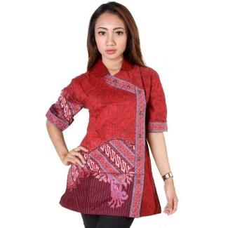 40+ Model Baju Batik Atasan Wanita Terbaru 2018! Desain Modern   Trendi e1de47c91e