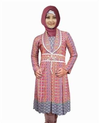 Model Baju Batik Atasan Wanita Lengan Panjang Paling Bergaya