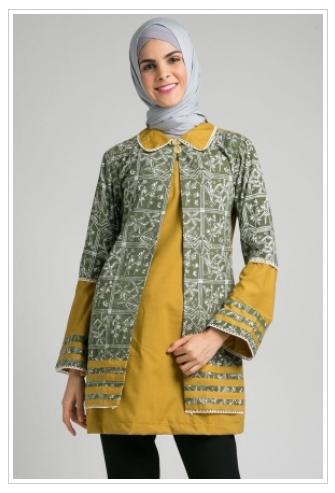 Model Baju Batik Atasan Wanita Lengan Panjang Terbaru