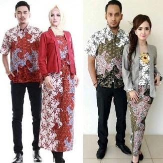 35 Model Baju Batik Couple Terbaru 2018 Pasangan Muda