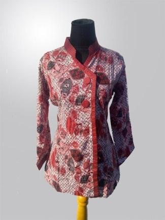 Model Baju Batik Kerja untuk Guru Wanita Muslimah