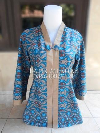 Model Baju Batik Kerja untuk Pegawai Bank Perempuan