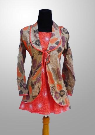 Model Baju Batik Kerja untuk Pegawai Bank Wanita Terbaru