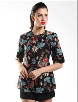 Model Baju Batik Pegawai Bank Wanita Paling Modern