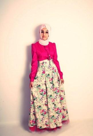 43 model baju gamis batik terbaru 2018 kombinasi modern Model baju gamis batik muslimah terbaru