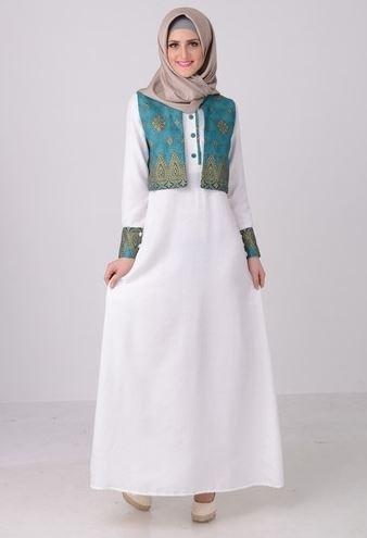43 Model Baju Gamis Batik Terbaru 2018 Kombinasi Modern Elegan