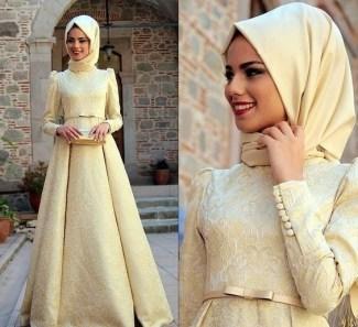 Model Baju Gamis Brokat Kombinasi Sifon Elegan