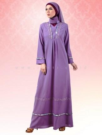 Model Baju Gamis Sifon Polos Paling Elegan