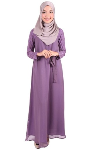 Model Baju Gamis Sifon Polos Sederhana Namun Tetap Cantik