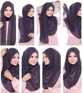 Tutorial Hijab Paris Sederhana 2