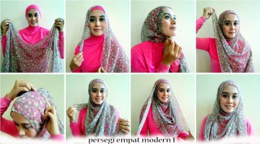 Tutorial Hijab Paris Simpel 2