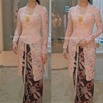 Model Kebaya Brokat dengan Desain Tradisional nan Elegan