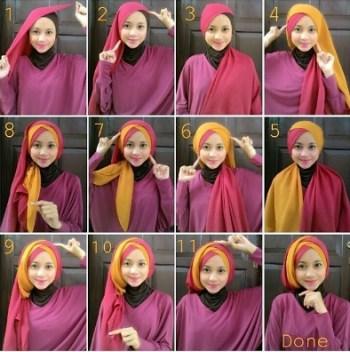 Tutorial Hijab Pesta untuk Pernikahan