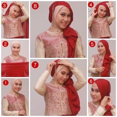Tutorial Hijab Segi Empat untuk Pesta Pernikahan Terbaru