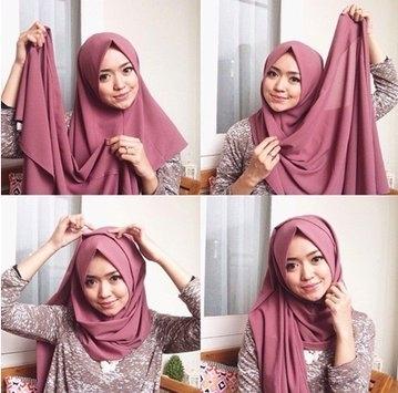 Tutorial Hijab Wisuda dengan Hijab Pashmina yang Simple