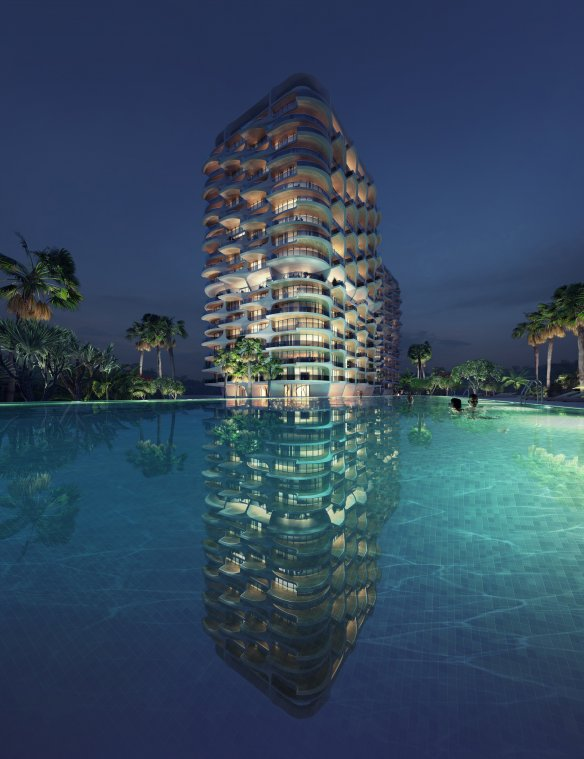 Alai Development by Zaha Hadid Architects demonstrates wellness architecture by adapting to its natural surroundings