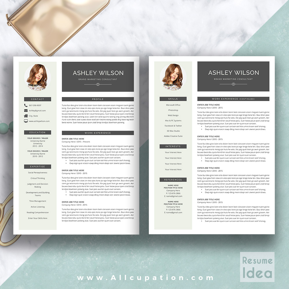 cv resume templates for pages
