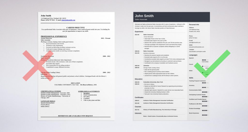 example of best resumes